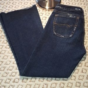 Silver jeans spur size 31, cut to a kick crop